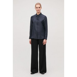 RELAXED ELASTIC-WAIST TROUSERS