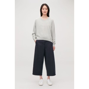 WIDE TROUSERS WITH FRONT BUTTONS