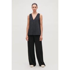 SLEEVELESS A-LINE TOP WITH V-NECK