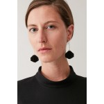 LAYERED FABRIC DROP EARRINGS
