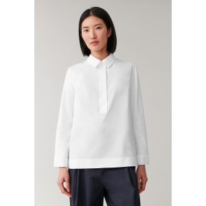 COTTON HALF-PLACKET SHIRT