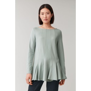 TOP WITH FLARED HEM