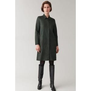 ZIPPED COTTON-MIX DRESS
