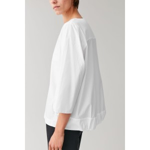 COTTON TOP WITH GATHERED HEM