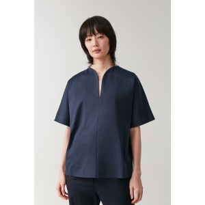 COTTON TOP WITH ROUNDED NECKLINE