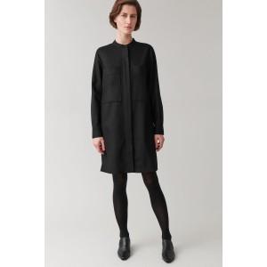 WOOL-MIX SHIRT DRESS WITH POCKETS