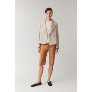 CROPPED LAPELLED JACKET