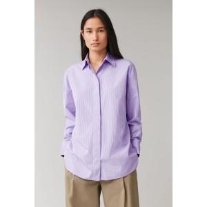 ROUND CUT COTTON SHIRT