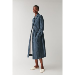 CRINKLED TECHNICAL TRENCH COAT