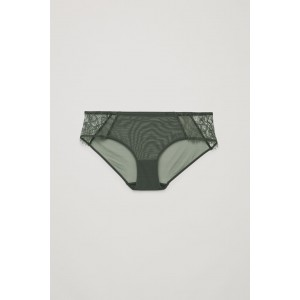 LACE-DETAILED MESH BRIEFS