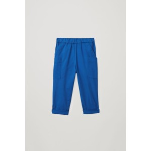 COTTON TROUSERS WITH PATCH POCKETS