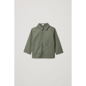 COTTON OVERSHIRT WITH PATCH POCKETS