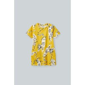 TIGER-PRINTED JERSEY DRESS