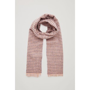 CHECKED WOOL-CASHMERE SCARF