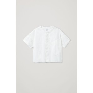 RELAXED SHIRT WITH SLANTED POCKET