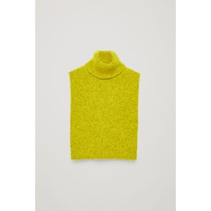 CHUNKY-RIB ROLL-NECK COLLAR