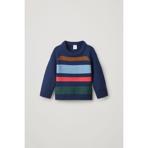 MERINO JUMPER WITH TEXTURED STRIPES