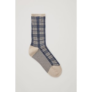 METALLIC CHECKED SOCKS