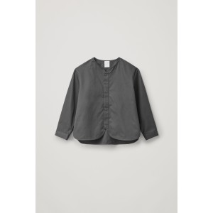 COTTON SHIRT WITH ROUNDED HEM