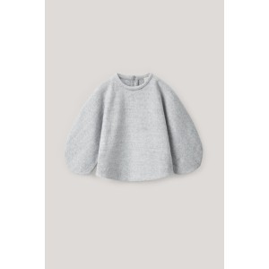 ROUNDED COTTON FLEECE TOP