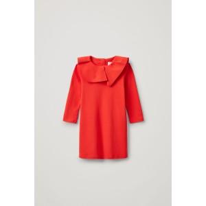 PLEATED COLLAR COTTON DRESS