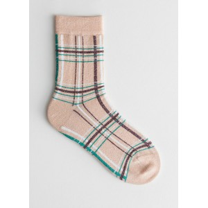 Plaid Glitter Socks