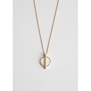 Circle Bar Pendant Necklace