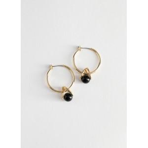 Sphere Wire Hoop Earrings