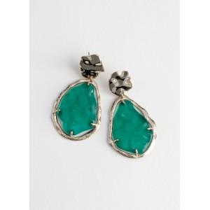Enamel Droplet Hanging Earrings