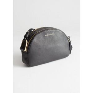 Leather Half Moon Crossbody Bag
