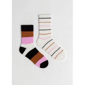 2 Pack Striped Socks