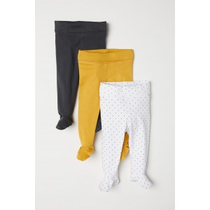 3-pack Pants with Feet