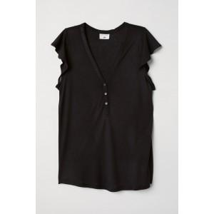 Flounce-sleeved Top