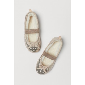 Pile-lined Ballet Slippers