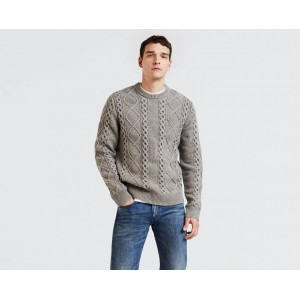 Fisherman Cable Crewneck Sweater