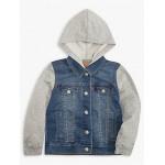 Little Boys Indigo Knit Trucker Jacket