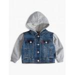 Toddler Boys Indigo Knit Trucker Jacket