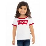 Toddler Girls 2T-4T Retro Ringer Tee Shirt