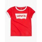 Toddler Girls Oversized Levis Logo Ringer Tee Shirt