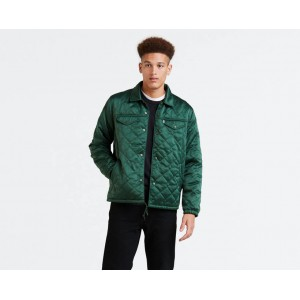 Quilted Coachs Trucker Jacket
