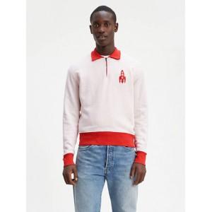 1950s Half Zip Fleece Sweatshirt