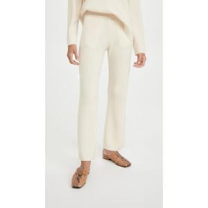 Cashmere Blend Ribbed Pants