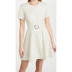 Seamed Flare Hem Dress