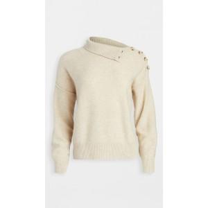 Button Neck Cashmere Sweater