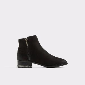 Adryssa Black Leather Nubuck