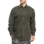 rothco heavy weight solid flannel shirt (b&t)