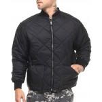 rothco diamond nylon quilted flight jacket (b&t)