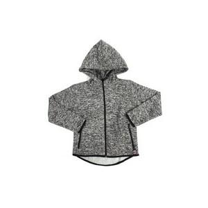 yarn dyed high neck full zip fleece hoodie (8-20)