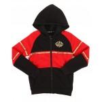 color block full zip hoodie w/ gold trim (8-20)