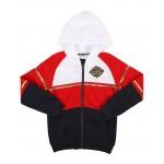 color block gold trim full zip hoodie (8-20)